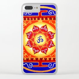 Tibetian Mandala Clear iPhone Case