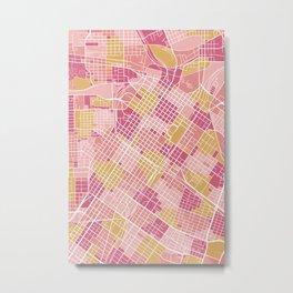 Houston map, Texas Metal Print