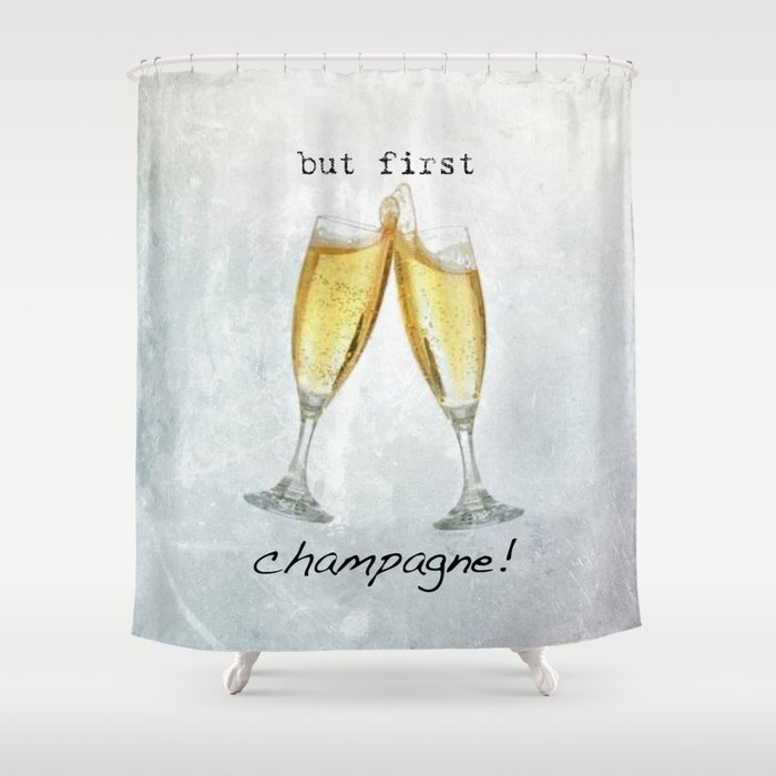 Champagne Shower Curtain By Mawjia