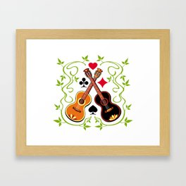 Two gypsy guitars  Framed Art Print