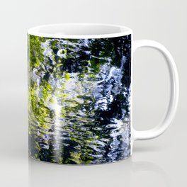 Ripples - abstract reflection of trees in moving water Coffee Mug