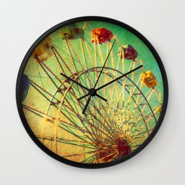 The Unbearable Elation of Summer carnival ferris wheel  Wall Clock