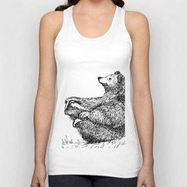 Yoga Bear Unisex Tank Top