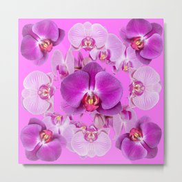 Ornate Pink & Purple  Butterfly Orchids Metal Print