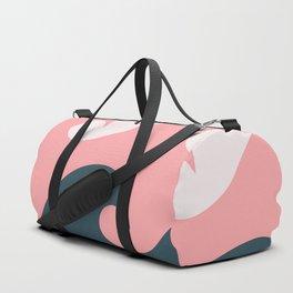 Pink Ocean Waves Duffle Bag