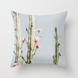 Cereus Cactus Blush Throw Pillow