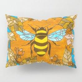 Bumblebee In Wild Rose Wreath Pillow Sham