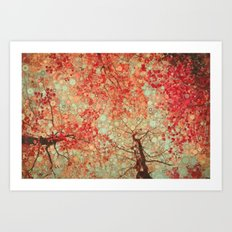 Autumn Reds Art Print