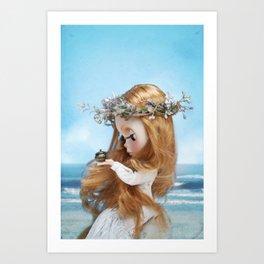 Erregiro Blythe Custom Doll Pandora Art Print