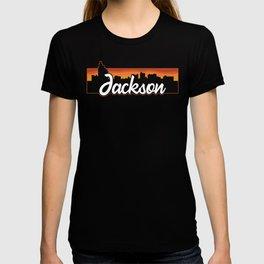 Vintage Jackson Mississippi Sunset Skyline T-Shirt T-shirt