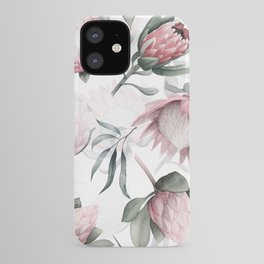 Hand Drawn Protea Flowers Pattern iPhone Case
