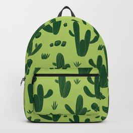 Hand drawn cactus botanical african plants Backpack