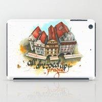 prague iPad Cases featuring Prague by Hande Unver
