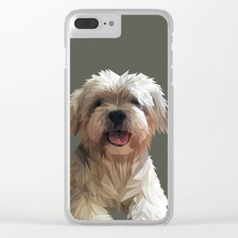 Shih tzu Low Poly Clear iPhone Case