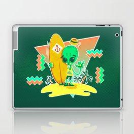 Alien Surfer Nineties Pattern Laptop & iPad Skin