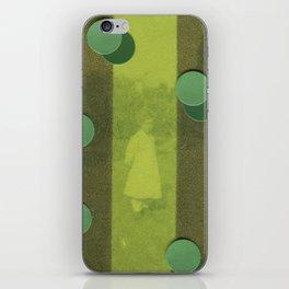 Green Curtain iPhone Skin