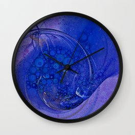 Blueberry Swirl Wall Clock