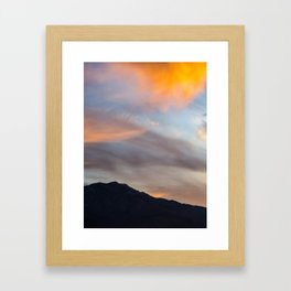 Mount San Jacinto Sunset Clouds Framed Art Print