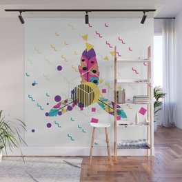 Colorful ornaments with feathers Wall Mural