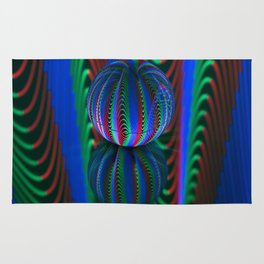 Segments in the crystal ball Rug