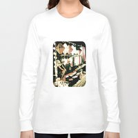 lanterns Long Sleeve T-shirts featuring Legs & Lanterns  by Ethna Gillespie