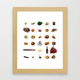 Comida de Colombia Framed Art Print