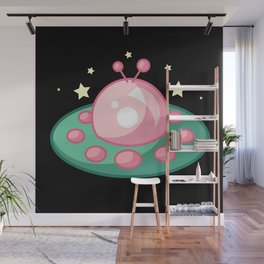 Cute UFO Wall Mural