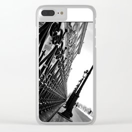 Paris, black and white Clear iPhone Case