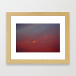 Red cloud shining at sunset Framed Art Print