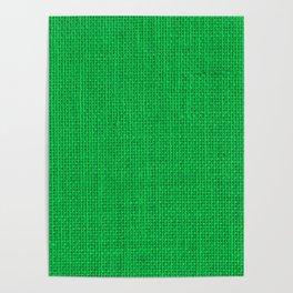 Natural Woven Neon Green Burlap Poster