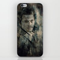 castiel iPhone & iPod Skins featuring Castiel by Sirenphotos