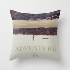 Adventure is Calling Throw Pillow