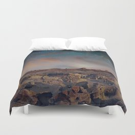 Exploring the Bisti Badlands of New Mexico Duvet Cover