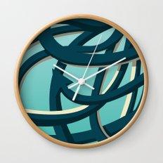 Octopus blue Wall Clock