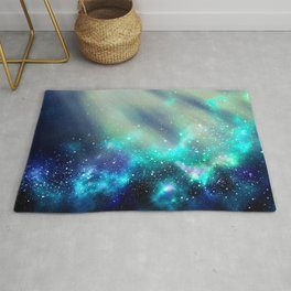Abstract Nebula #3: Light Green Rug