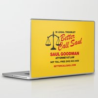 better call saul Laptop & iPad Skins featuring Better Call Saul  by Laundry Factory