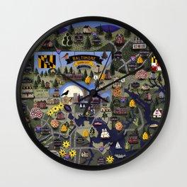 Baltimore, Maryland Wall Clock
