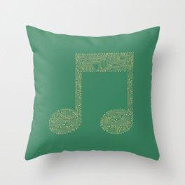 Techno Music Throw Pillow