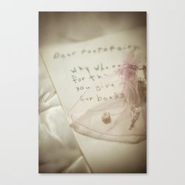 Why Where You Late? Canvas Print