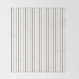 Silver Moss Pinstripe on White Throw Blanket