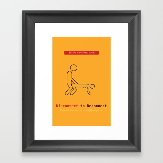 Disconnect to Reconnect Framed Art Print