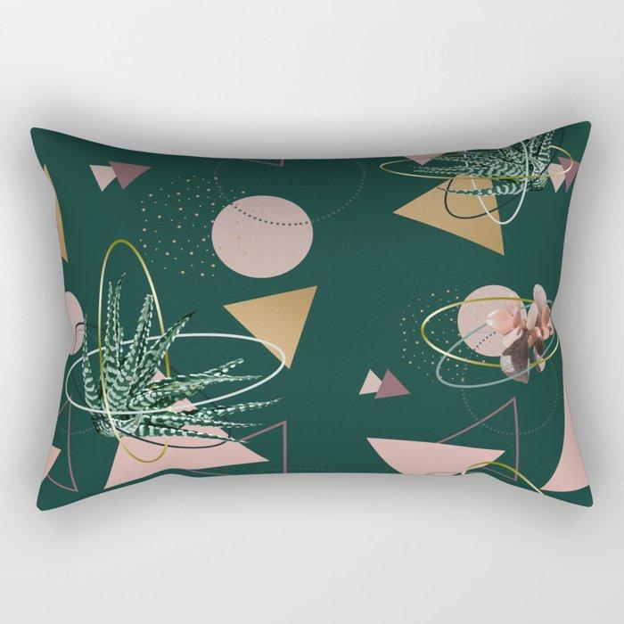 Succulents Atoms #society6 #decor #buyart Rectangular Pillow