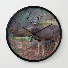 Zion Deer Wall Clock