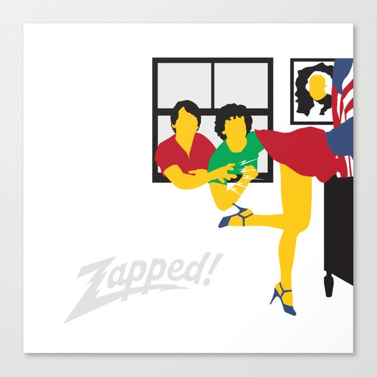 Zapped Canvas Print