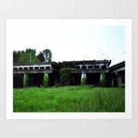 Vacant Bridges Art Print