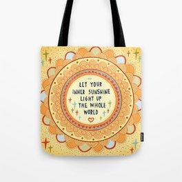 Inner sunshine Tote Bag