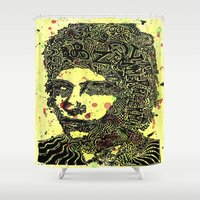 bob dylan Shower Curtains featuring Bob Dylan #4 by Travis Poston