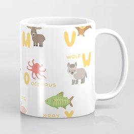 English animals alphabet Coffee Mug