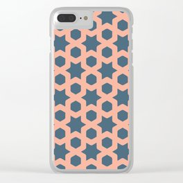Hexagonal and stars pattern III Clear iPhone Case