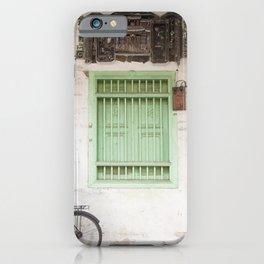 Green Window - Penang, Malaysia iPhone Case